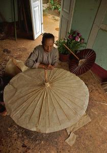 Umbrella making house , Pindaya