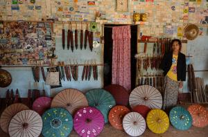 Umbrella making house, Pindaya